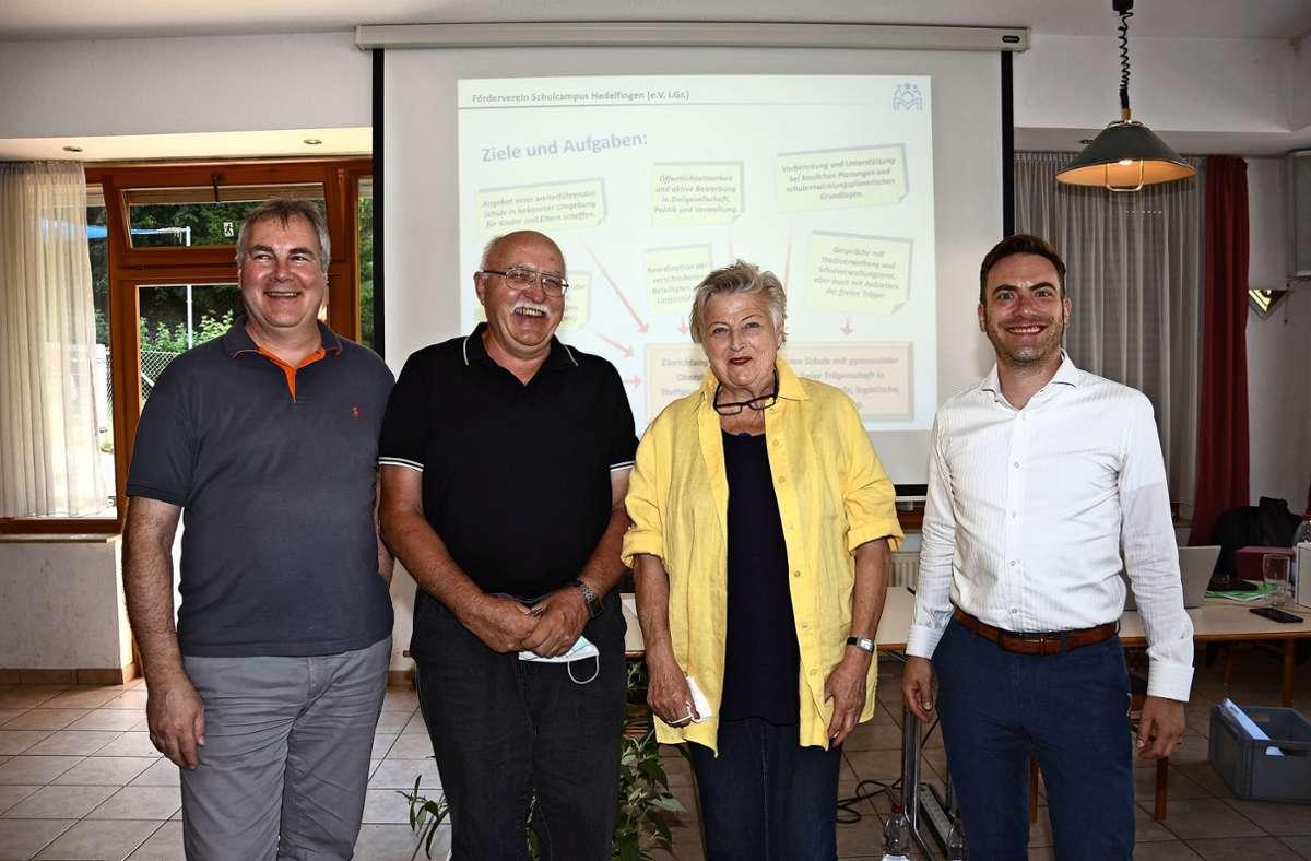 Die frisch gewählten Vorstände: Roger Schenk, Paul Wurm, Ilse Bodenhöfer-Frey und Michael Haug Foto: Mathias Kuhn
